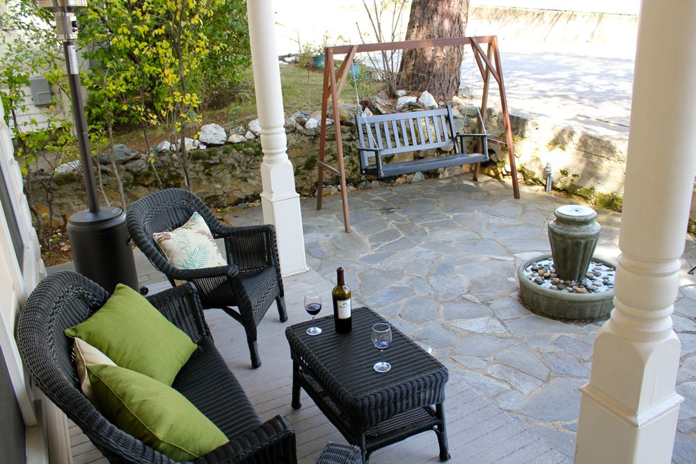 Front Patio at Broad Street Inn