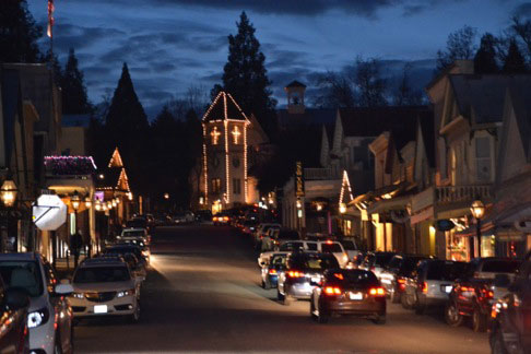 nevada city at night