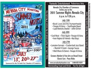 Summer Nights 2011 Flyer