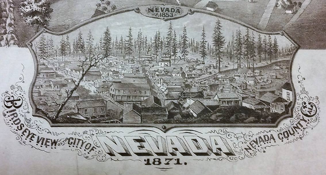nevada county historical map